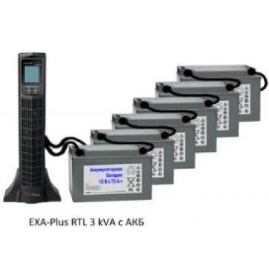 Источник бесперебойного питания EXA plus RTL 3kVa/2,7kW